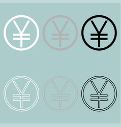 yuan or yen symbol icon vector image