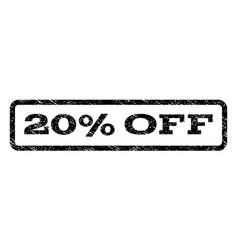 20 percent off watermark stamp vector image