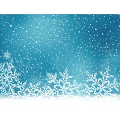 Blue snowflake winter background vector image vector image