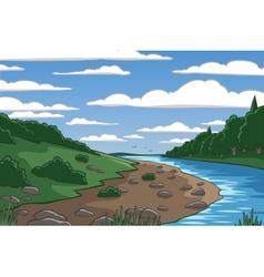 Cartoon valley vector image vector image