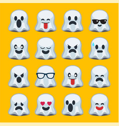 emoji halloween ghost vector image vector image