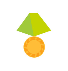 gold medal icon isolated on white backgroun vector image