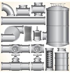 Industrial Pipeline Parts vector image vector image