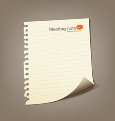 Paper meeting note vector image vector image