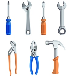 Repair tools flat icons set vector image vector image