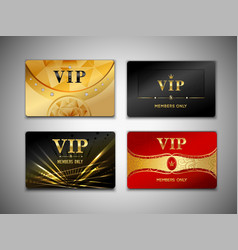 Small vip cards design set vector image