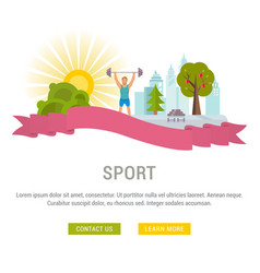 website banner and landing page sport vector image
