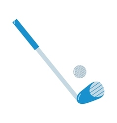 Golf putter and golf ball on white vector image