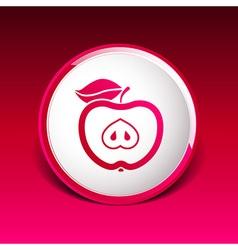 apple element logo nature food vector image