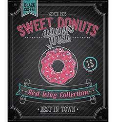 donut chalk vector image