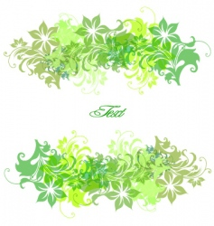 frame background with flowers vector image