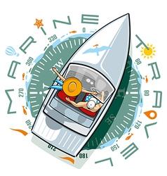Marine Travel vector image