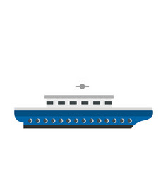 passenger ship icon flat style vector image vector image