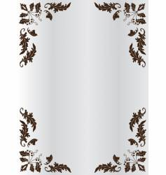 the frame of ornament vector image vector image