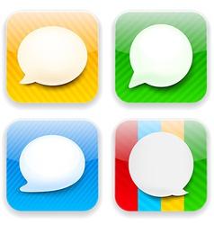 Web speech bubble app icons vector image vector image