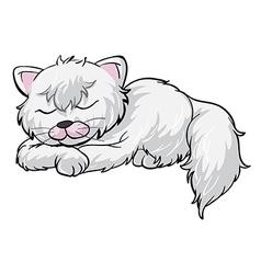 A sleeping cat vector image