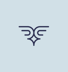Abstract bird wings logotype creative vector