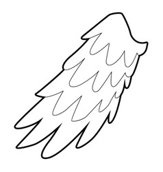 angelic wing icon outline style vector image