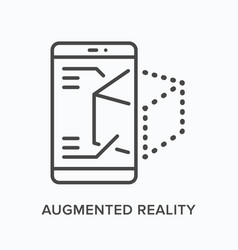 Augmented reality flat line icon outline vector