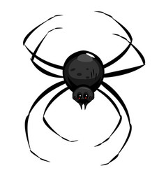 Black cartoon spider isolated vector