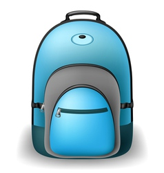 Blue school bag vector