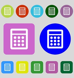 Calculator sign icon bookkeeping symbol 12 colored vector