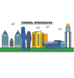 canada mississauga city skyline architecture vector image