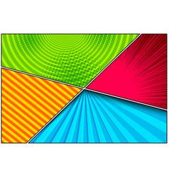 comic colorful elegant composition vector image