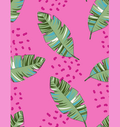 creative pattern with palm leaves vector image