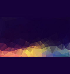 Dark pastel geometric background mosaic triangles vector