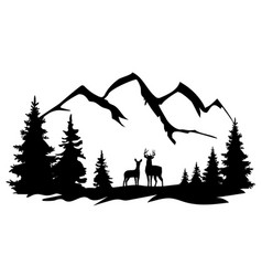 Deer in wilderness vector