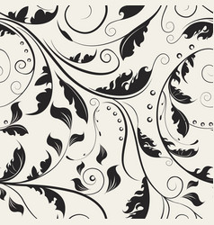 delicate ornamental swirl leaves vector image