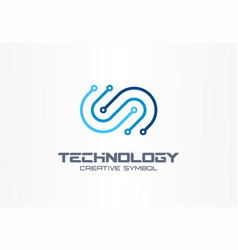 digital technology creative symbol concept vector image