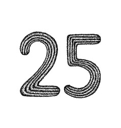 dotwork twenty five vector image