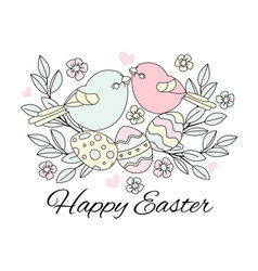 easter birds great religious holy holiday cartoon vector image