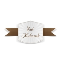 Eid Mubarak paper Banner with Ribbon vector