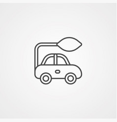 electric car icon sign symbol vector image