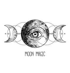 Eye of providence masonic symbol all seeing vector