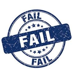 Fail blue grunge round vintage rubber stamp vector