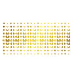family child golden halftone matrix vector image