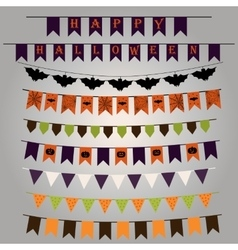 Flags and ribbons for Halloween vector
