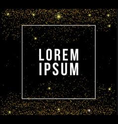 golden glitter background vector image