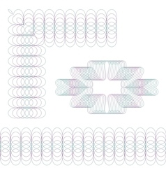 Guilloche elements Set vector