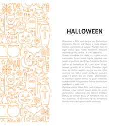 halloween line pattern concept vector image