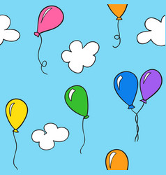 Hand drawn balloons vector