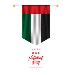 Happy uae national day template design vector