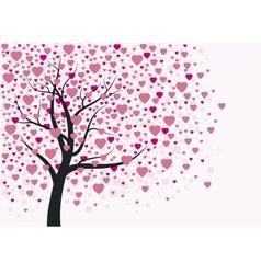Heart tree design vector image