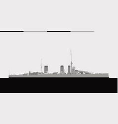 Hms queen mary royal navy battlecruiser vector