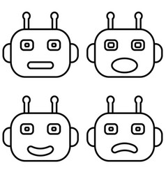 icons chat bot artificial intelligence emotions vector image