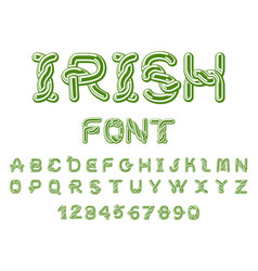 irish font national celtic alphabet traditional vector image